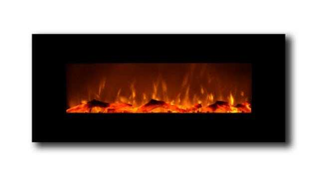 "onyx 50"" wall mount electric fireplace"