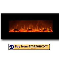 Black electric fireplace