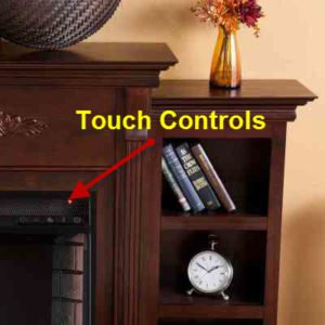 free standing Electric Fireplace mantel