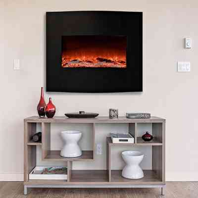 Garibaldi Curved Front Wall Mounted Electric Fireplace Review