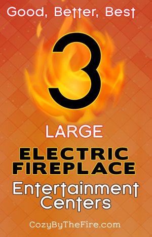large electric fireplace entertainment center