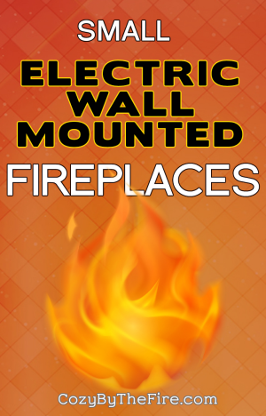 small electric wall mounted fireplaces