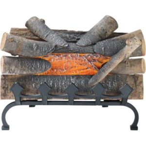 """Pleasant Hearth 20"""" Electric Crackling Natural Wood Log Fire"""