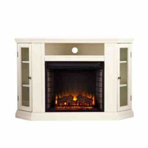 Ivory White Electric Fireplace TV Stand Review