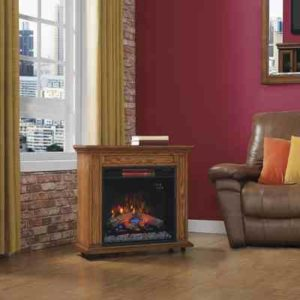 Rolling Infrared Electric Fireplace Heater Mantel - ClassicFlame 23IRM1500-O107