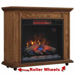 ClassicFlame Rolling Mantel Infrared Quartz Fireplace