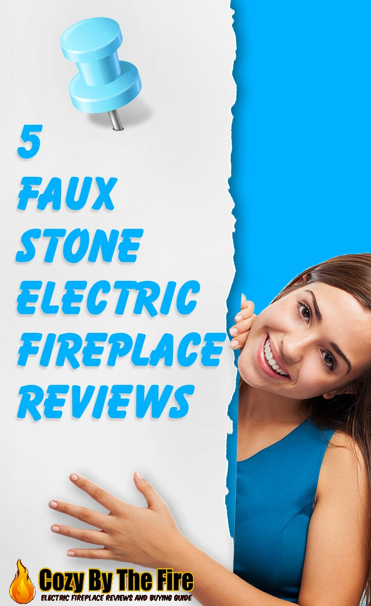 5 faux stone electric fireplaces