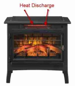 Duraflame portable electric fireplace heater