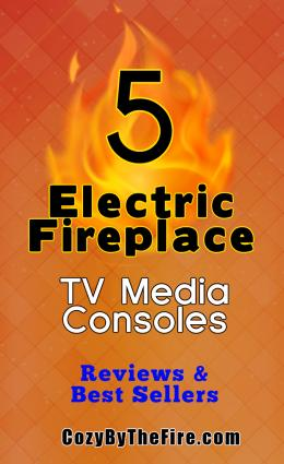 5 electric fireplace media consoles